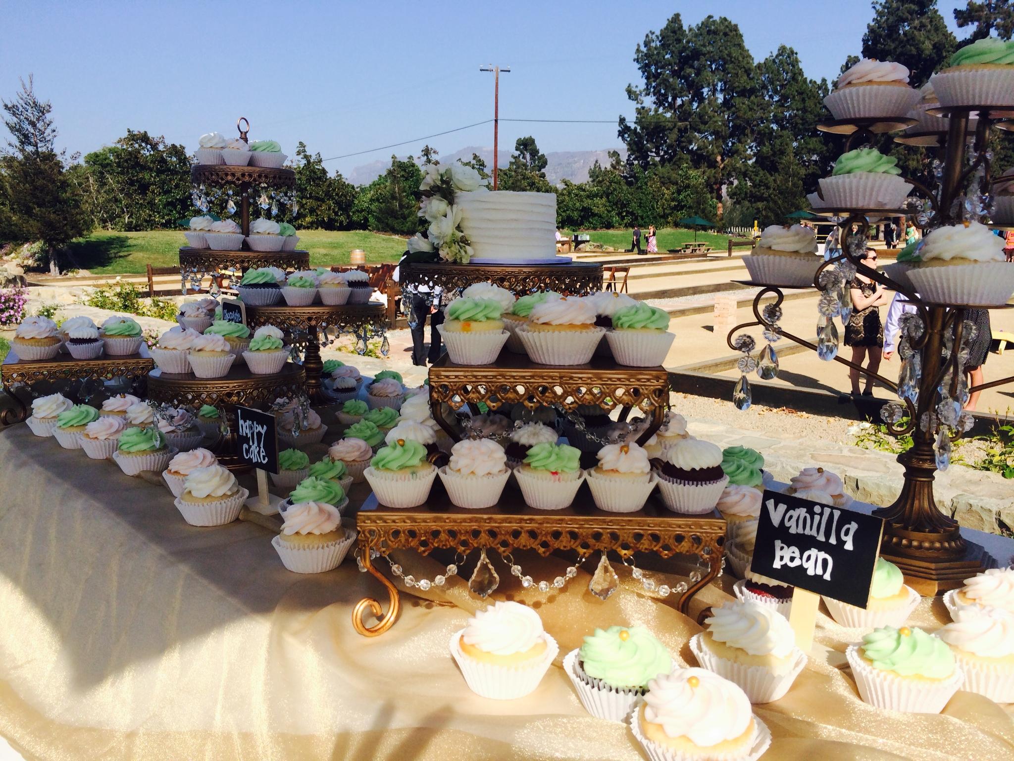 Cupcake Dessert Table   Dessert Stands   Opulent Treasures
