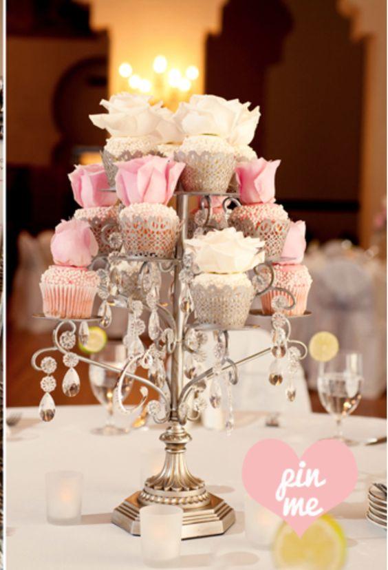 Silver Chandelier Cupcake Stand   Opulent Treasures