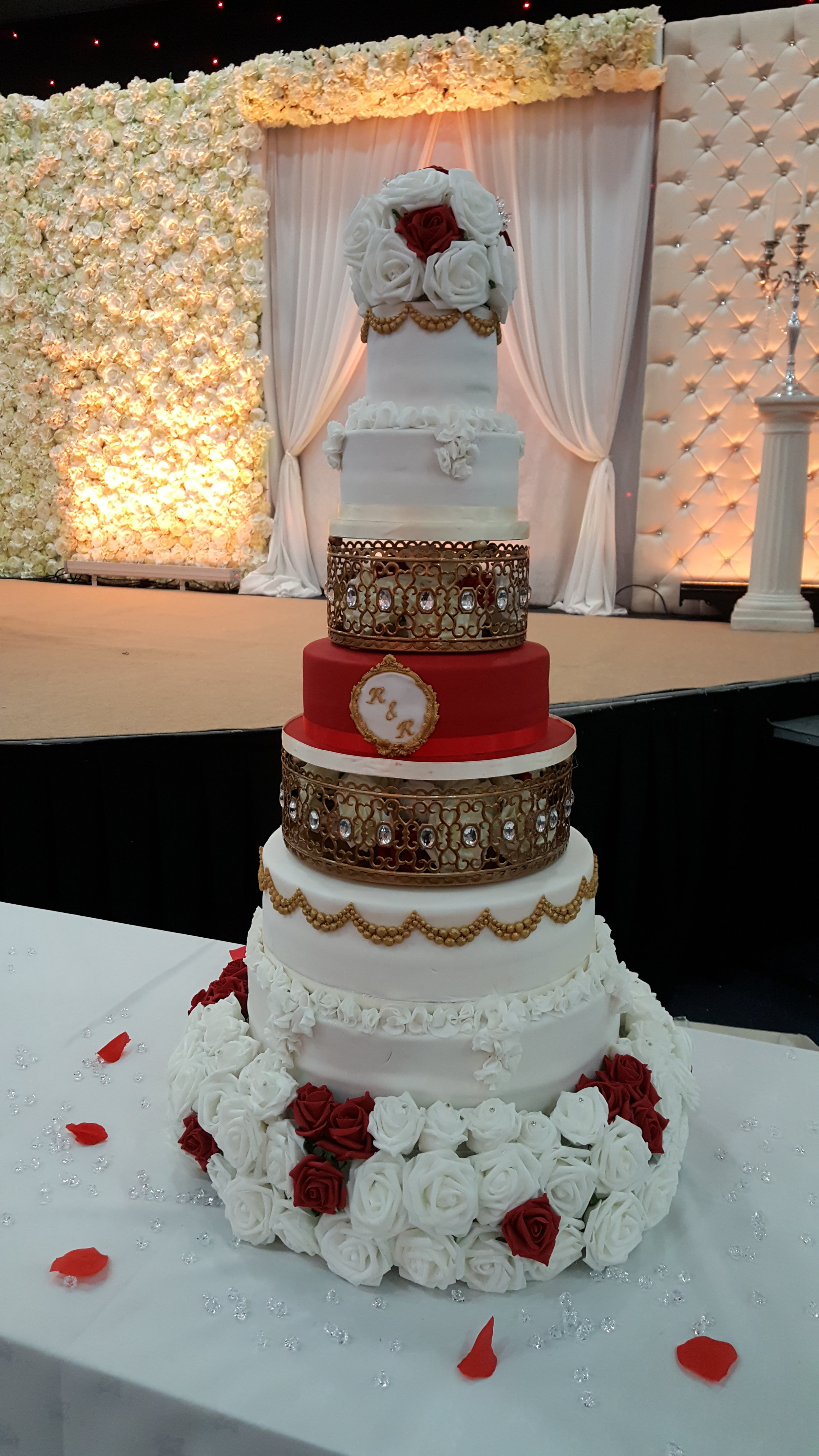Moroccan Jeweled Cake Stand ~ Layered in Cake Design