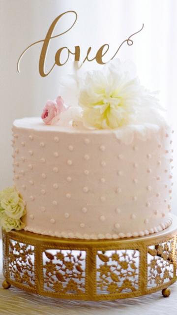 Opulent Treasures Cherry Blossom Cake Stand   Love Cake Topper