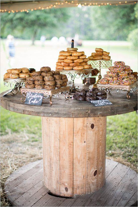 Donut Dessert Bar   Square Cake Stands