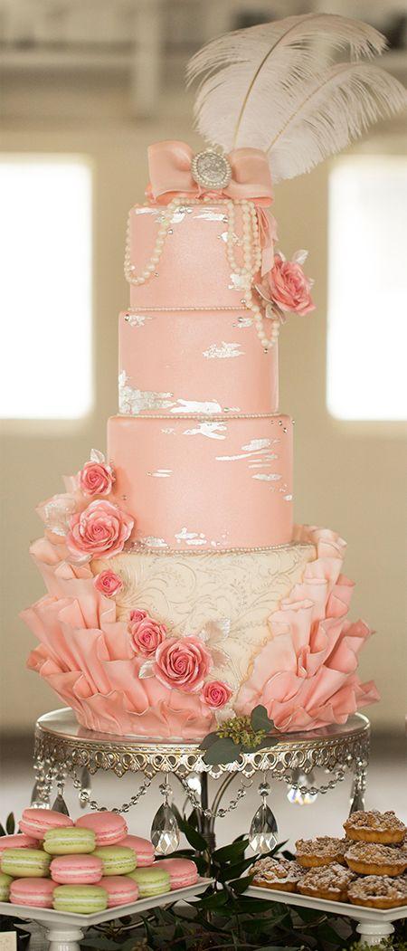 Silver Grand Round Wedding Cake Stand