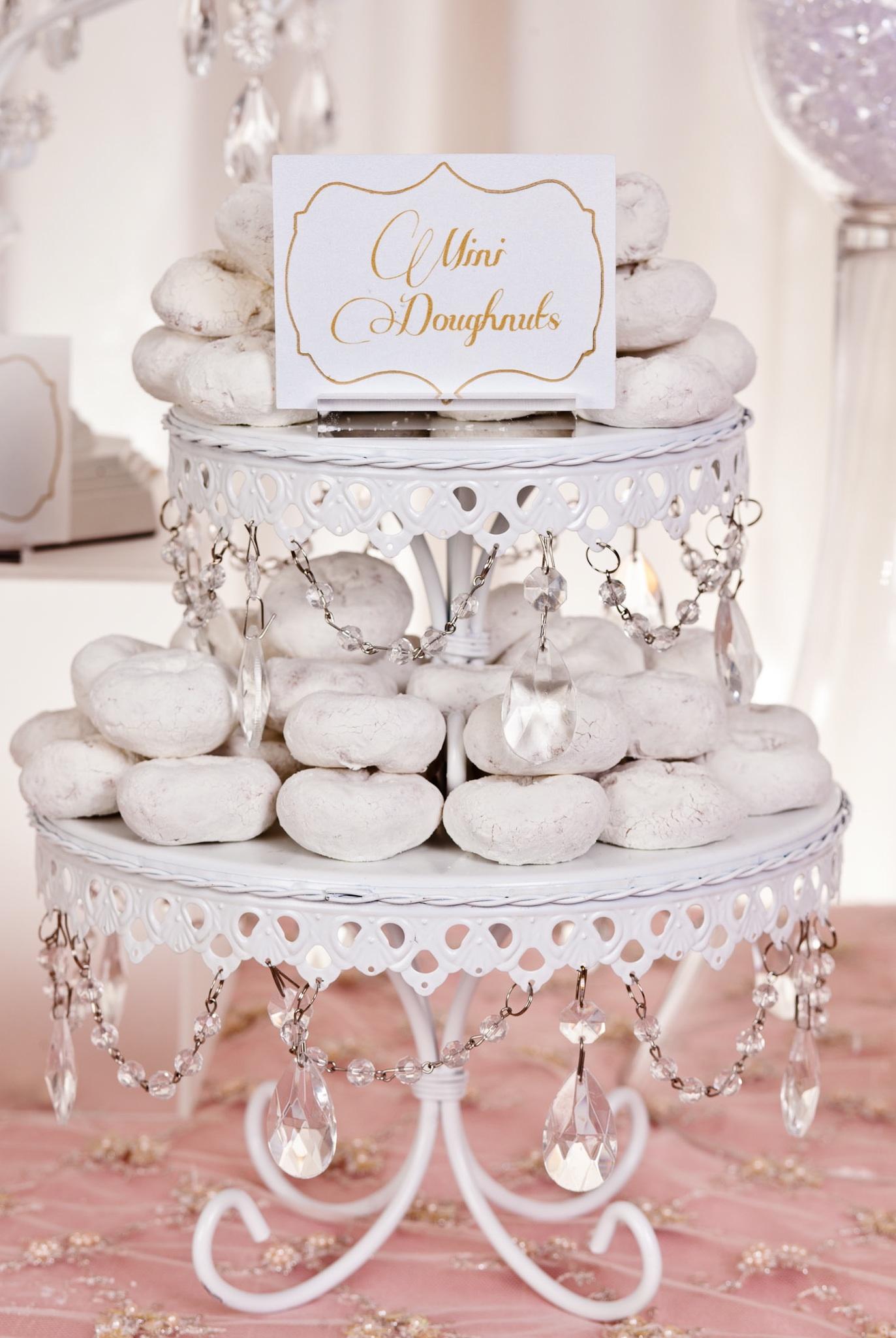 Mini Donuts   White Cake Stands
