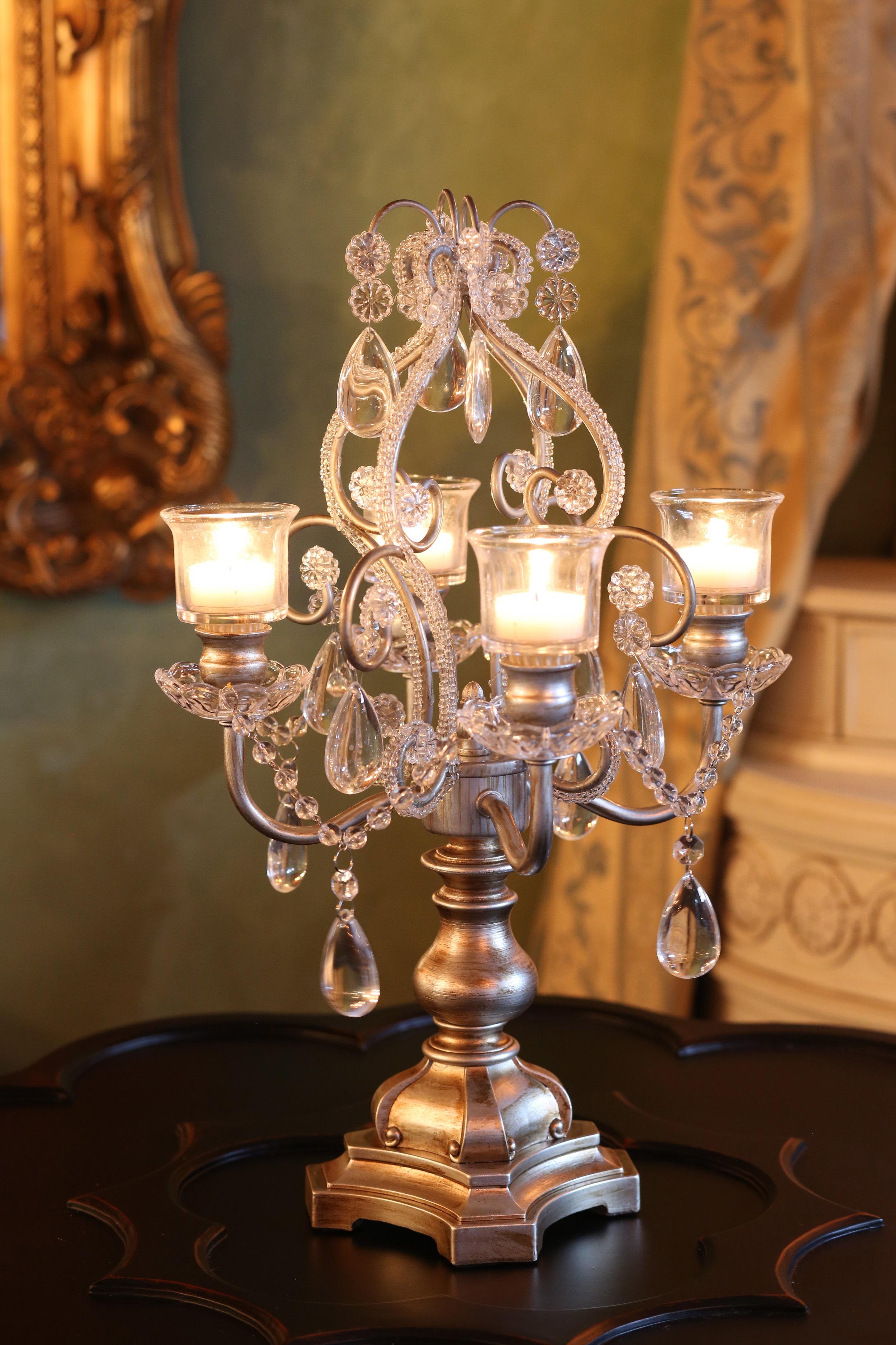 Bench Chandelier Candelabra   Opulent Treasures