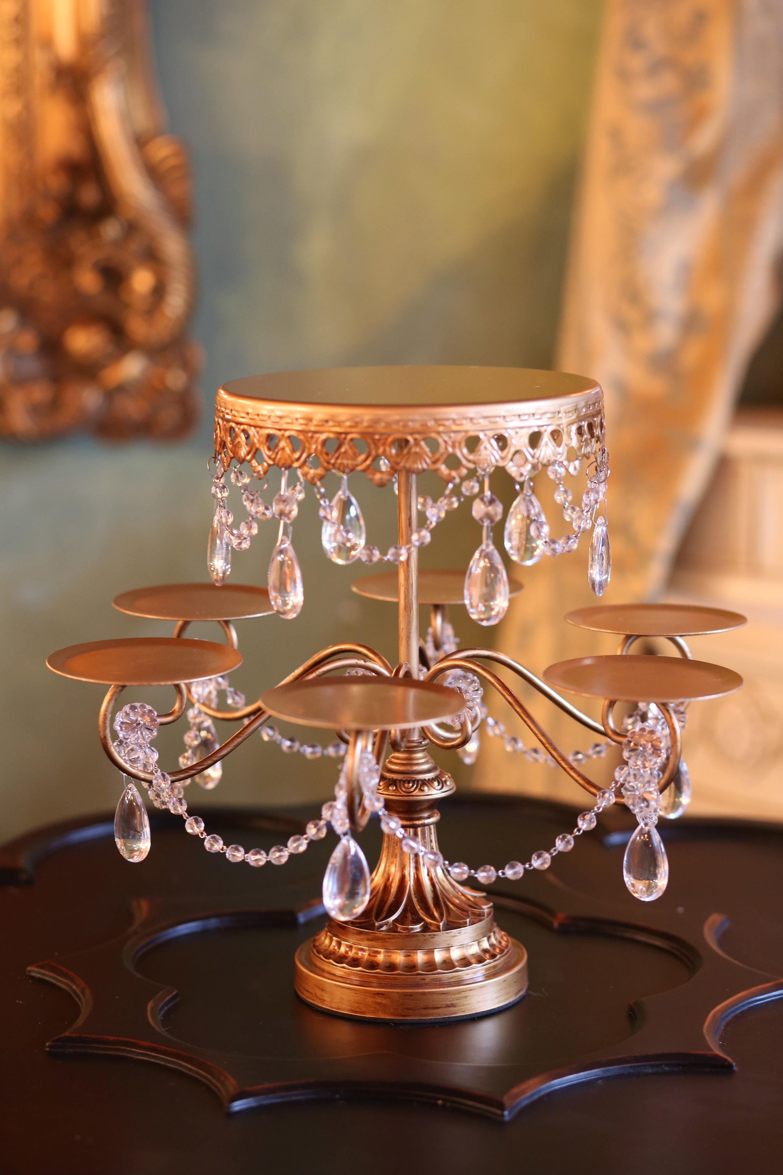 Rosebud Dessert Stand   Opulent Treasures