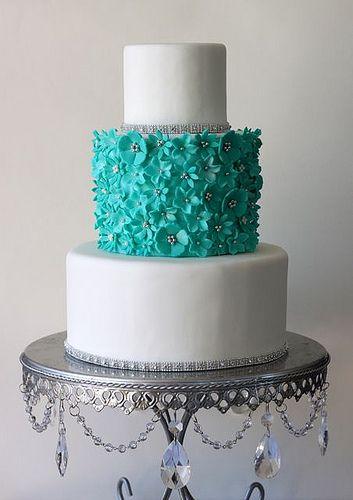 Silver Chandelier Loopy Cake Plate