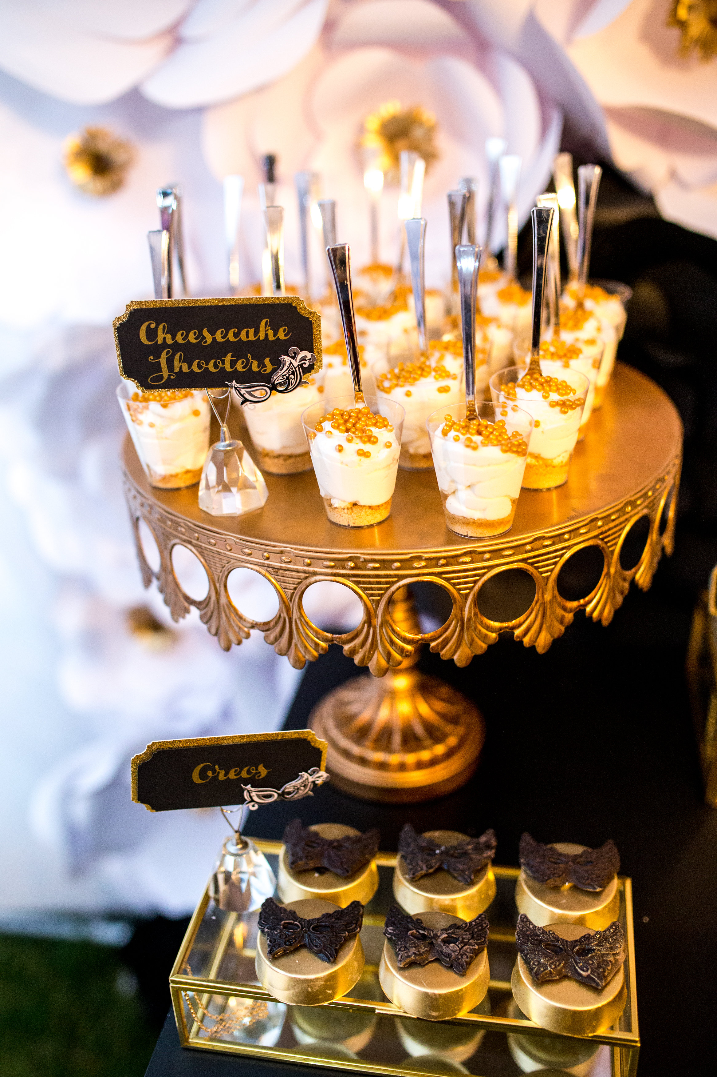 Gold Metal Cake Stand