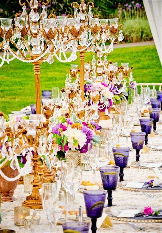 Elegant Tablescape   Gold Candelabras