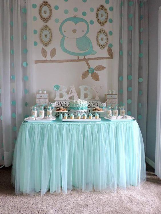 Baby Blue Shower Dessert Table
