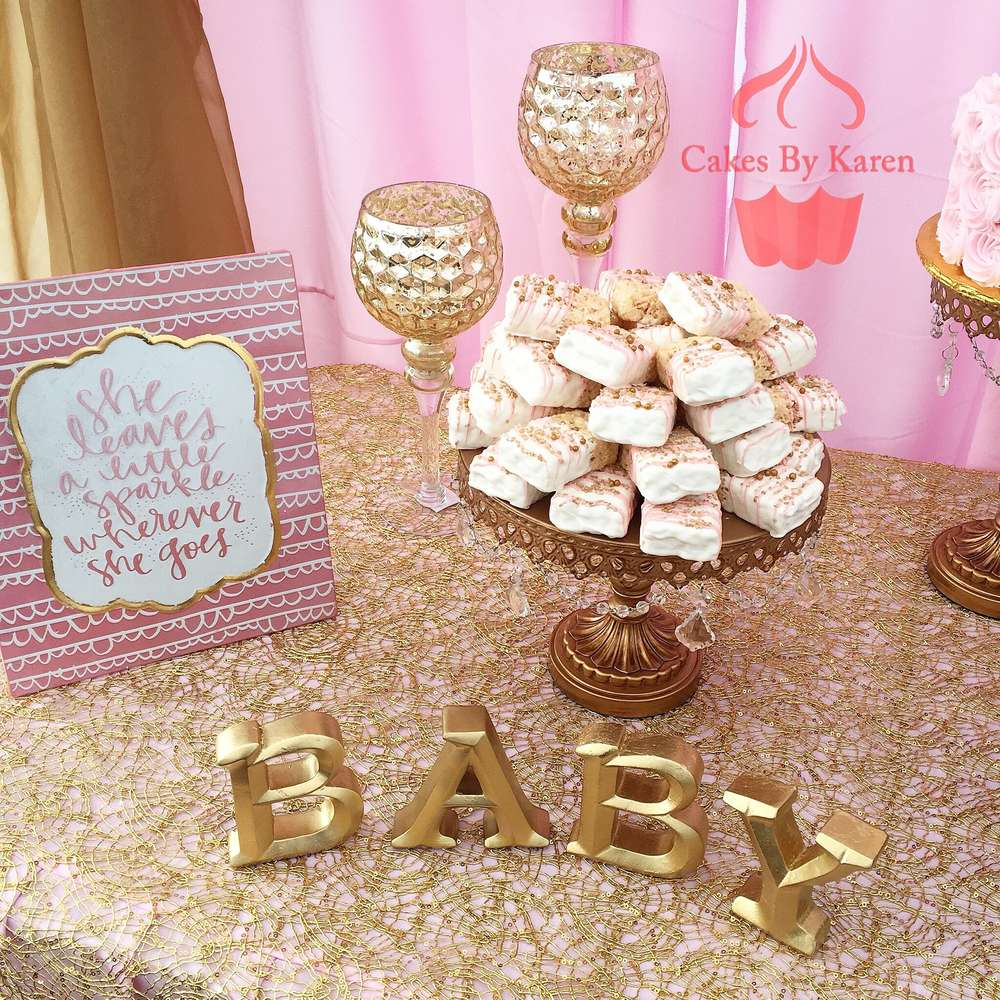 Baby Girl Shower   Pink & Gold