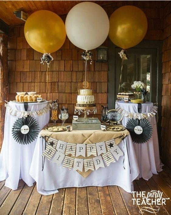 Birthday Party Ideas   Black & Gold