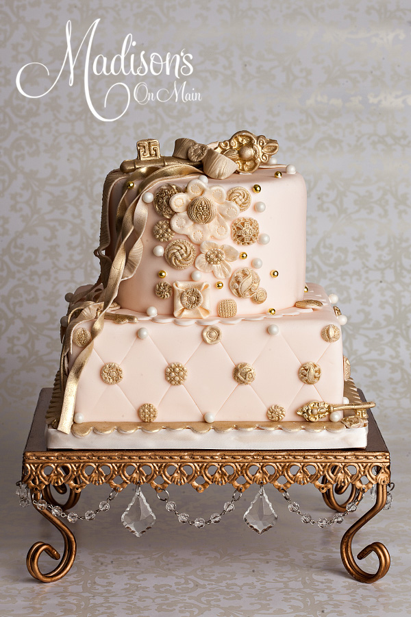 Square Chandelier Cake Stand   Opulent Treasures