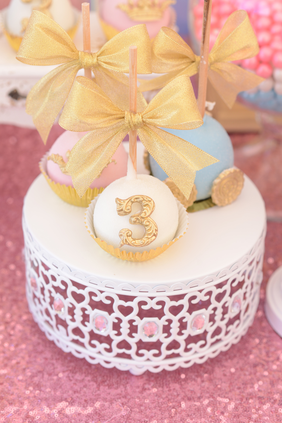 White Moroccan Jeweled Cake Stand   Baby Shower