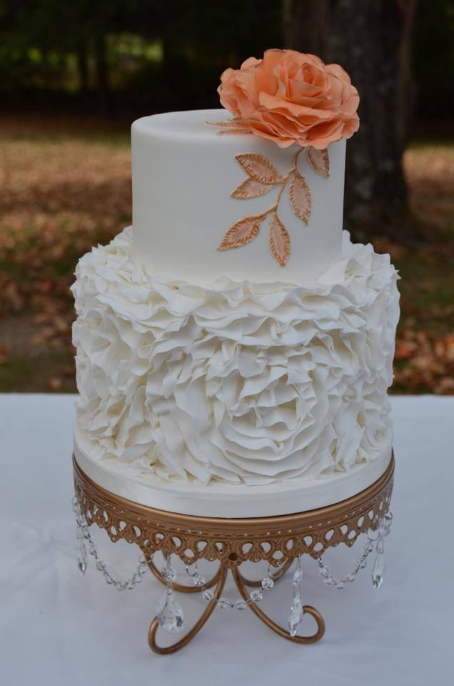 Opulent Treasures   Gold Chandelier Loopy Cake Plate