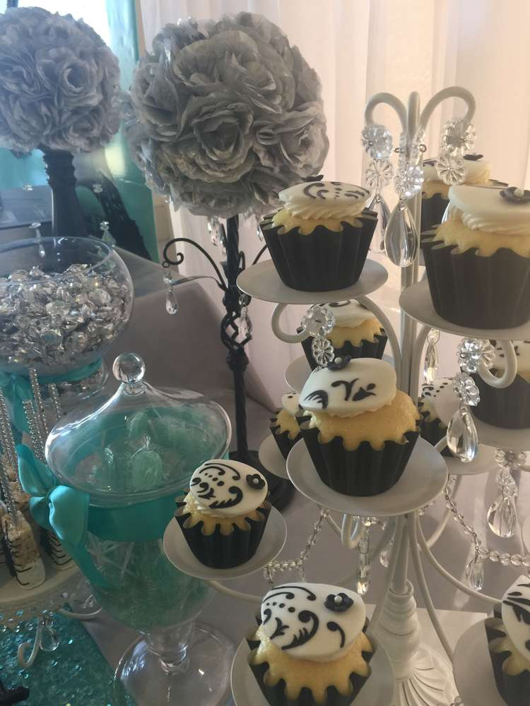 White Chandelier Cupcake Stand by Opulent Treasures