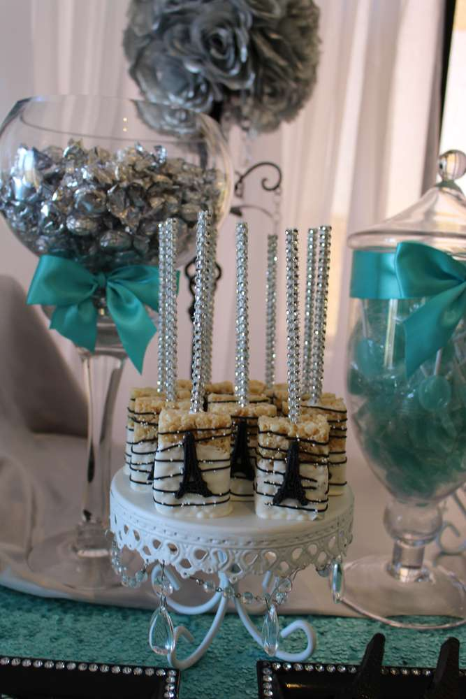 White Chandelier Loopy Cake Plate   Candy Buffet Table