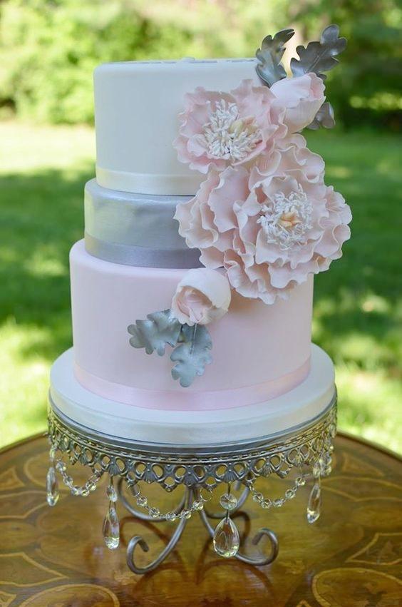 Opulent Treasures  Silver Chandelier Loopy Cake Plate