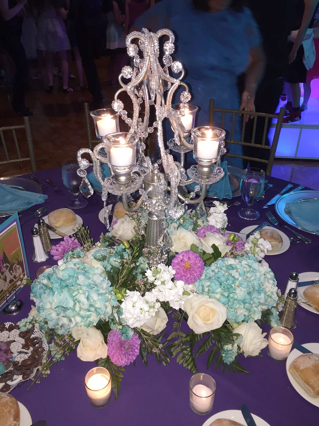 Silver Lilac Taper Candelabra