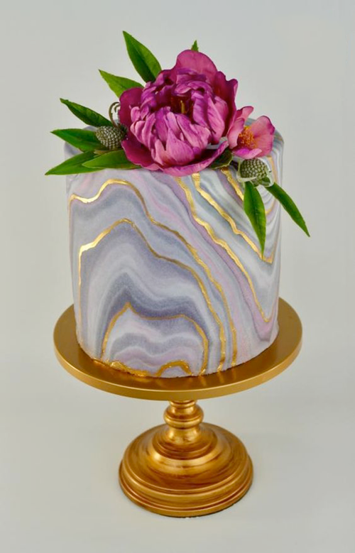 Geode Cake by  Arte y Sabor  |  Simply Cake Stand
