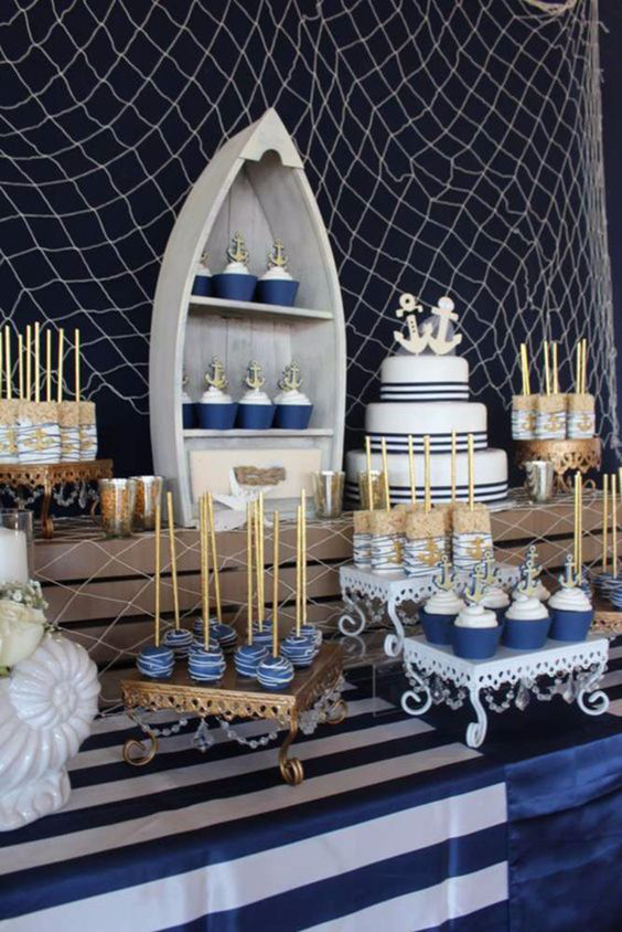 Nautical-baby-shower-gold-blue-silver-opulent-treasures-cake-stands.png