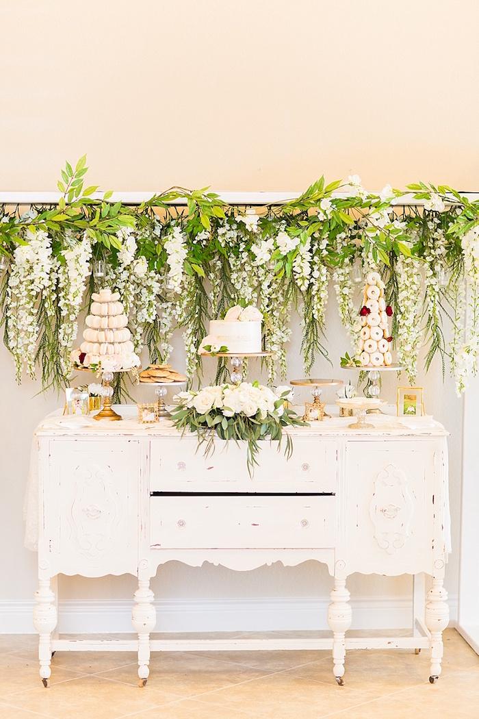 Wedding Cake, Sweets & Macaron Tower