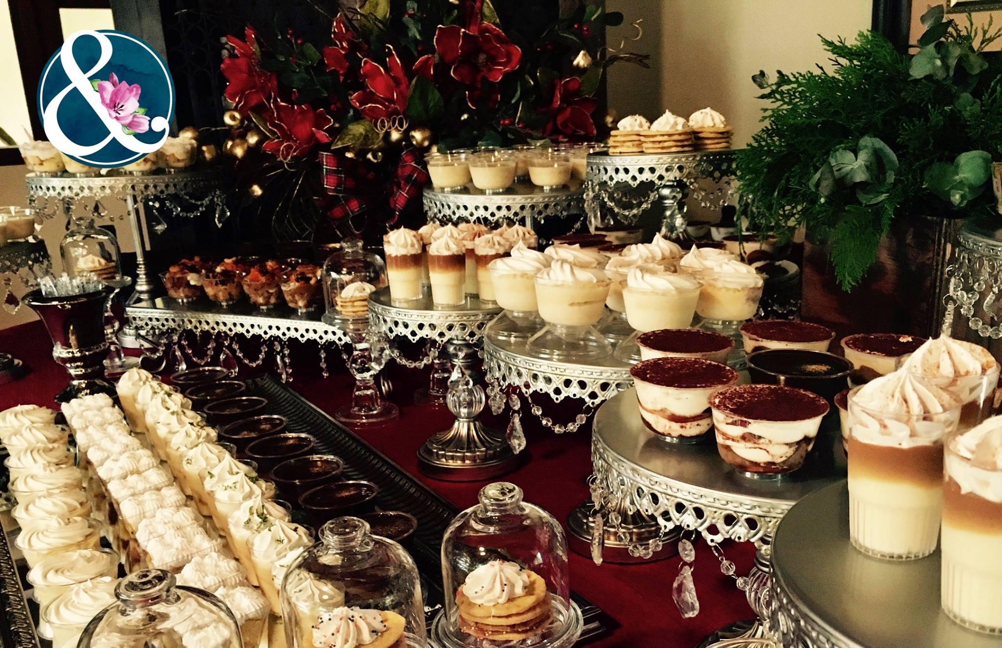 opulent treasures Cake stands dessert table.jpg