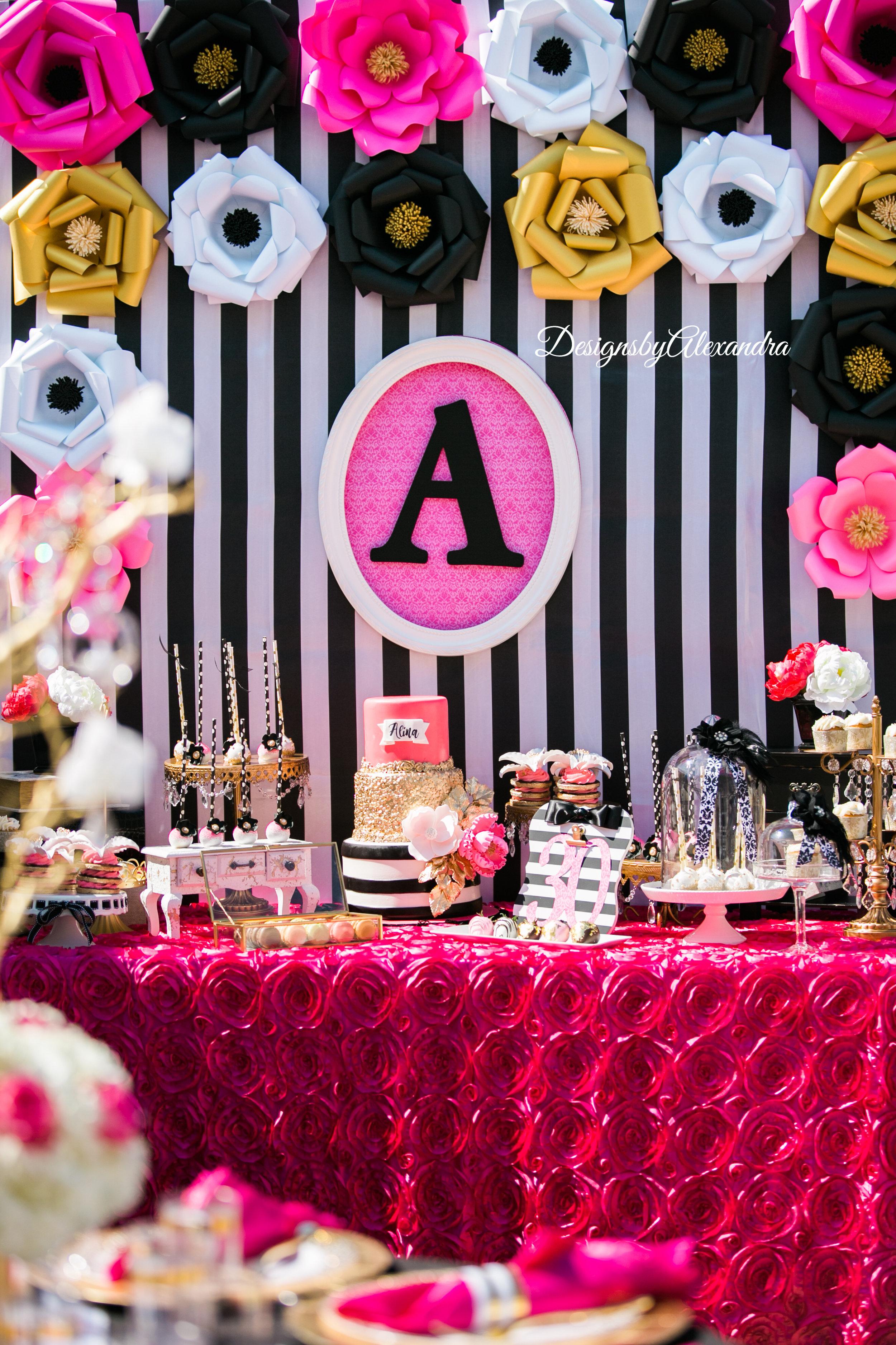birthday-paper-flowers-backdrop-gold-cakestand.JPG