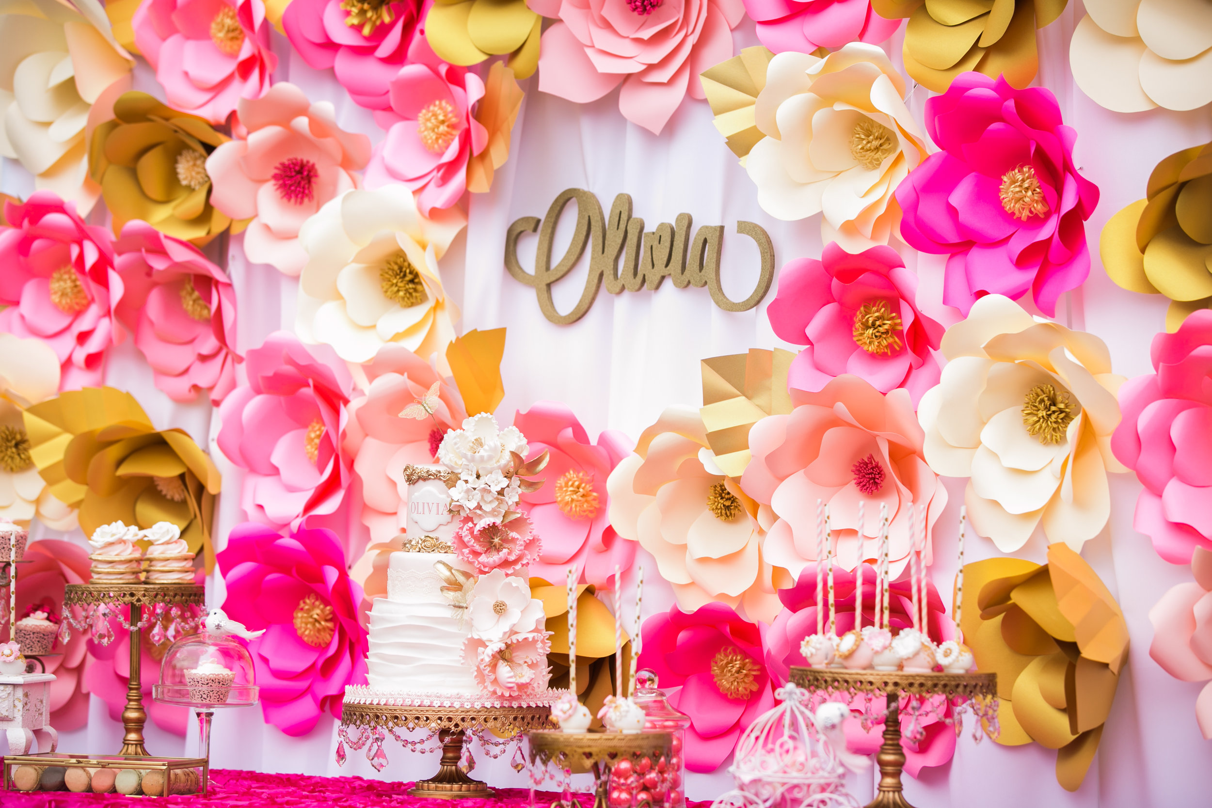 gold-chandelier-cake-stand-Birthday-paperflowers.jpg