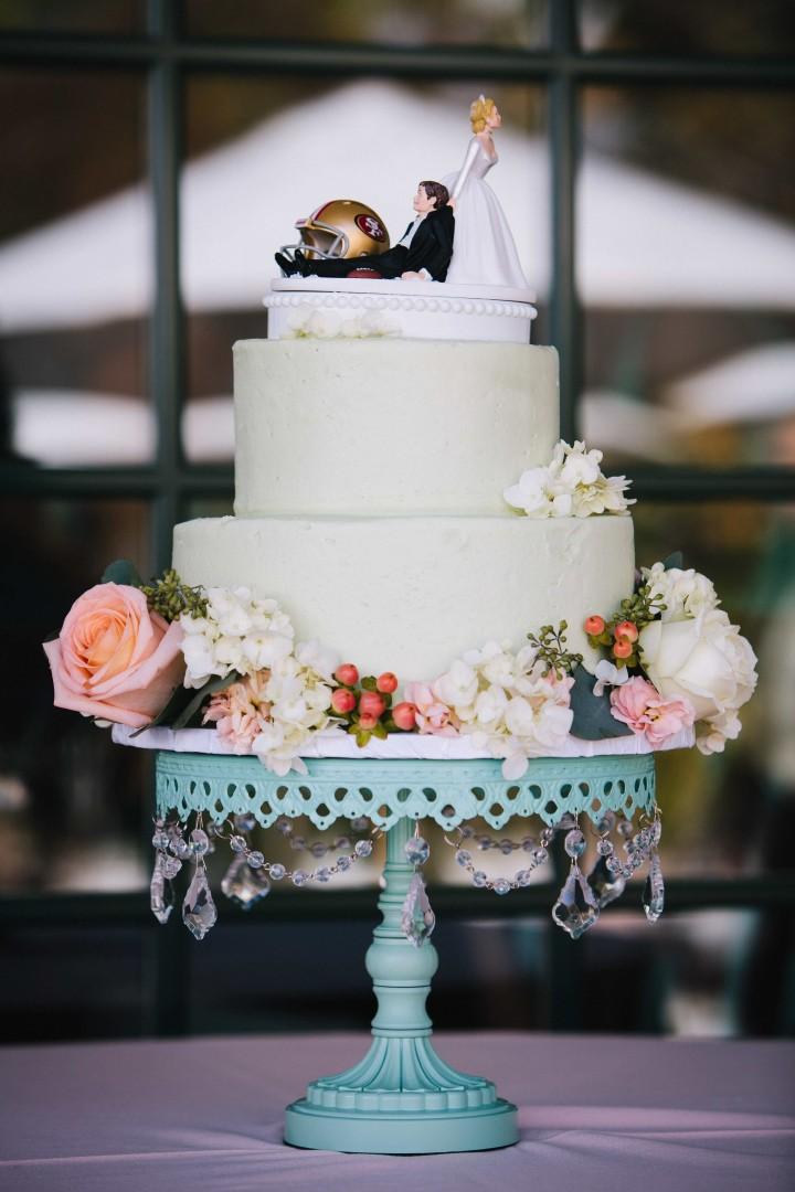 Opulent Treasures  Toile Blue Chandelier Cake Stand  Photo  Elle Jae Photography