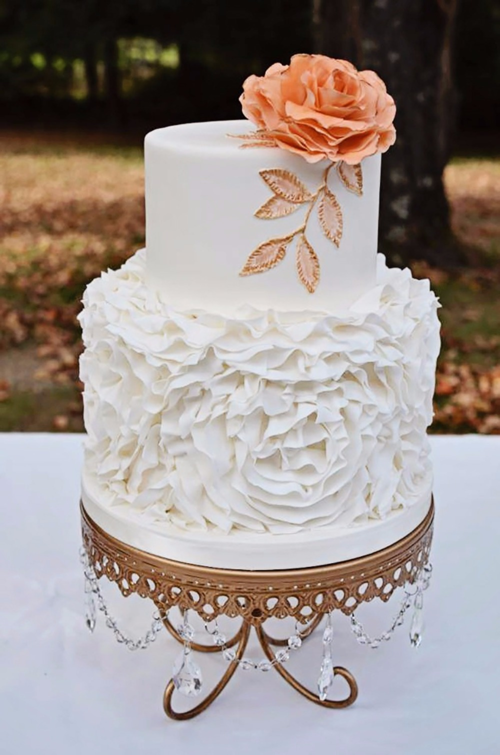 Our Gorgeous Gold Chandelier Loopy Cake Plate