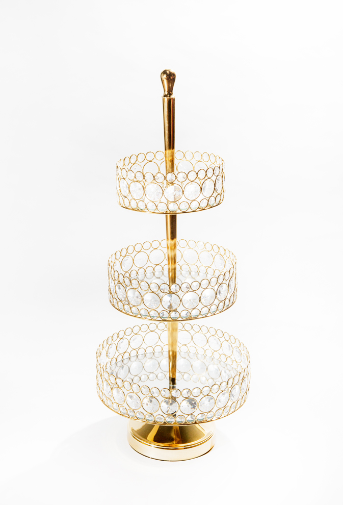 Bling Three-Tiered Serving Tray
