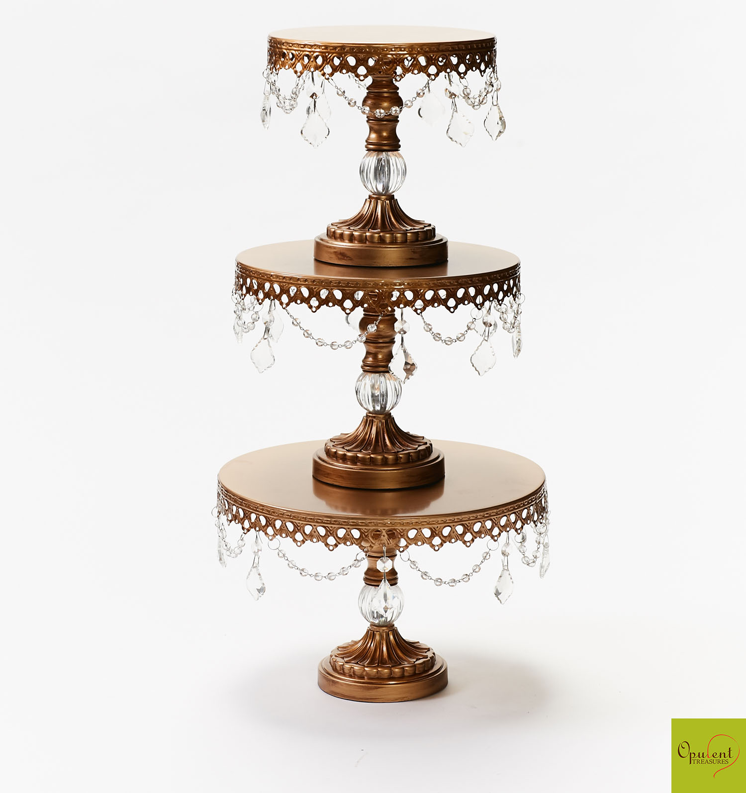 Antique Gold Chandelier Cake Stand