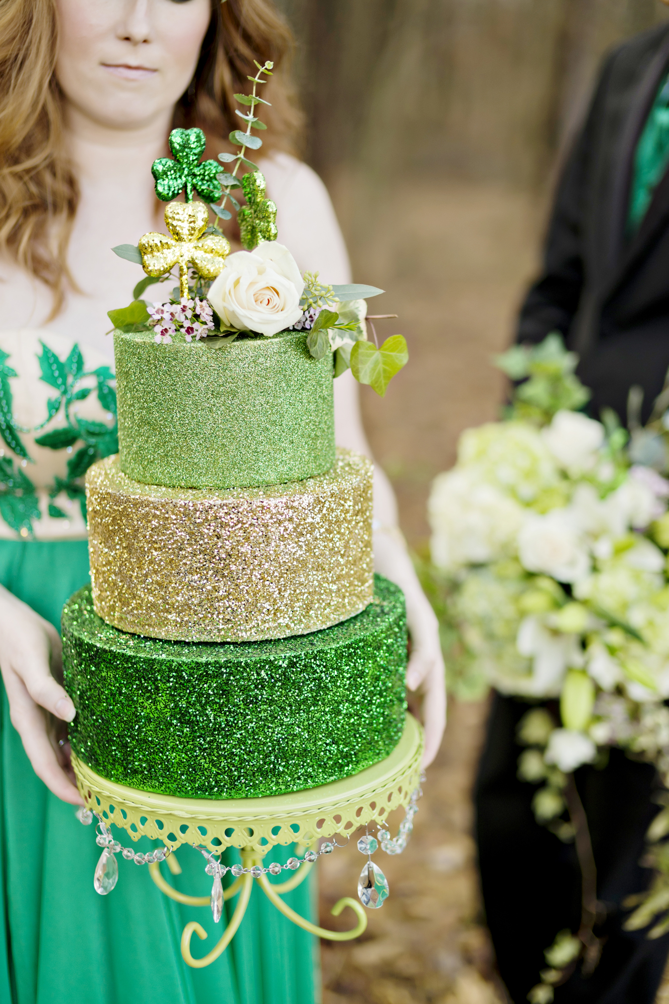 Opulent Treasures Cake Stands Andie Freeman Photo St Patricks Day Wedding03.jpg