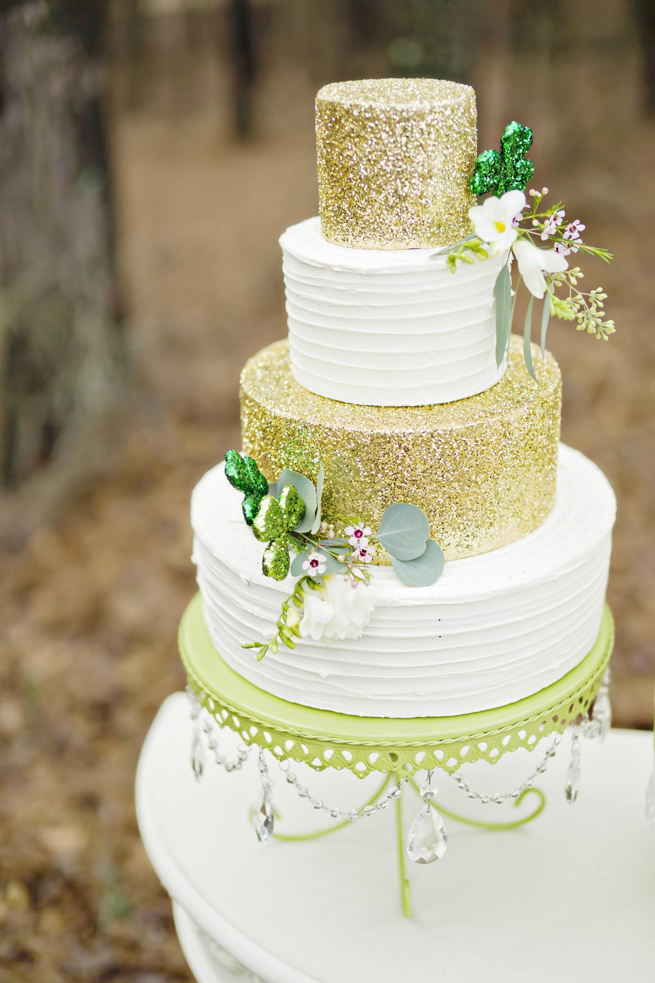 Opulent Treasures Cake Stands Andie Freeman Photo St Patricks Day Wedding02.jpg