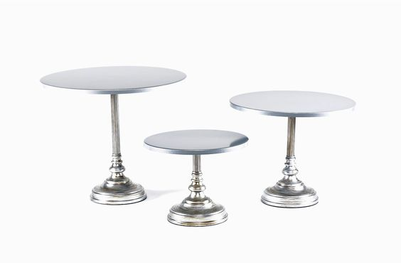 Silver  Simple Cake Stand