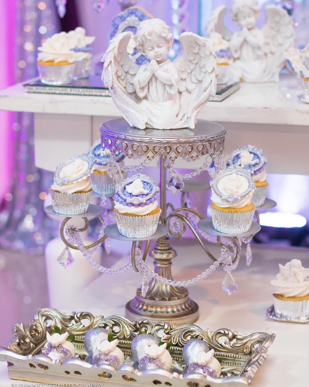Silver dessert stand opulent treasures angel heaven sent baby shower graces events.jpg