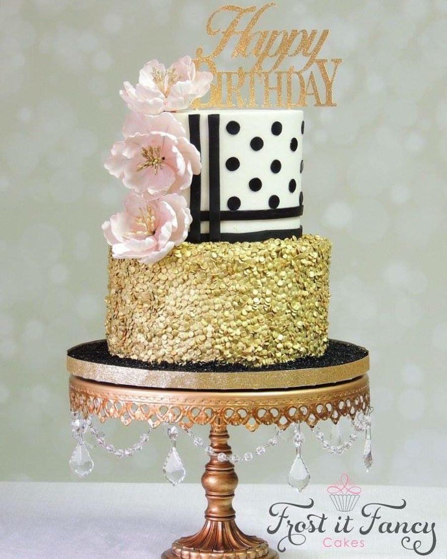 birthday cake - antique gold chandelier metal cake stand opulent treasures.jpg