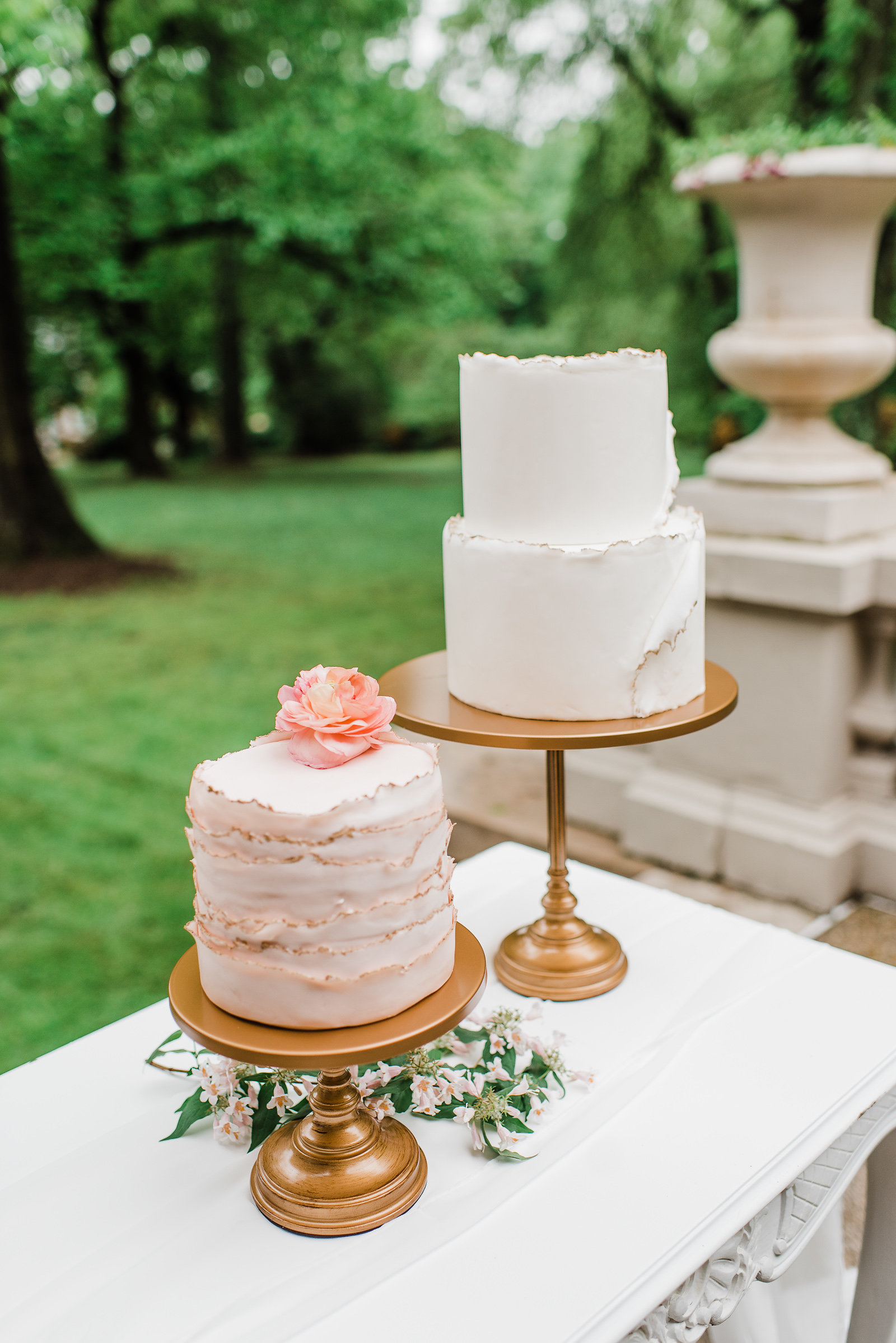 Wedding cake table - antique gold simply cake stand springstyledshoot(120of286).jpg