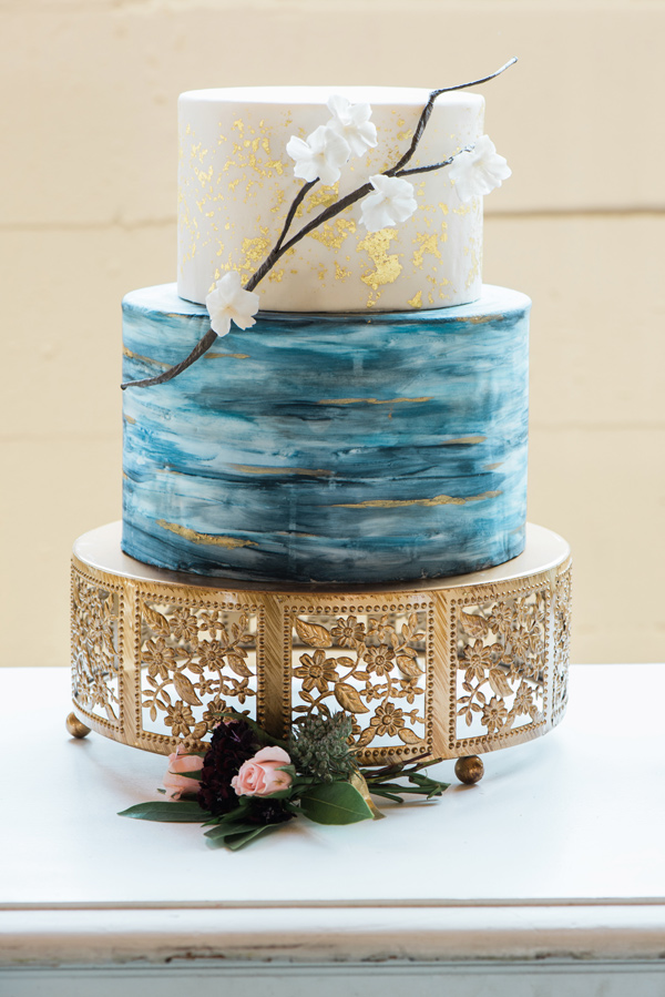 Antique Gold Cherry Blossom Cake Stand Opulent Treasures rich-hued-portland-wedding-inspiration-46.jpg