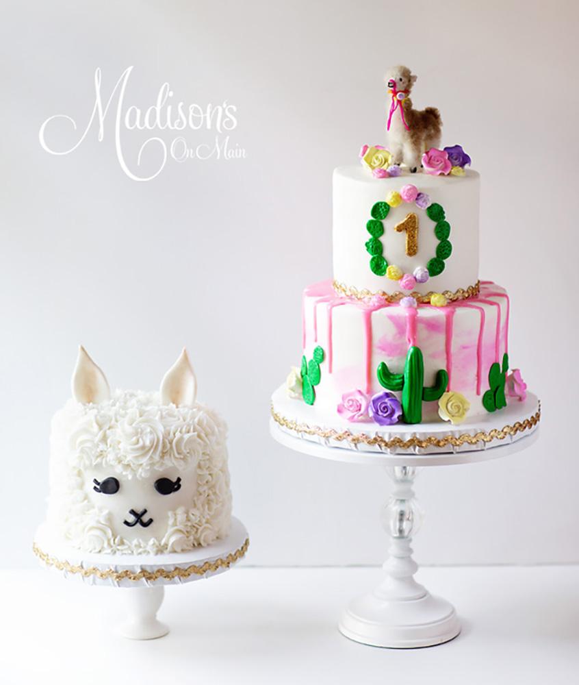 madisons on main Llama smash cake white cake stand.jpg