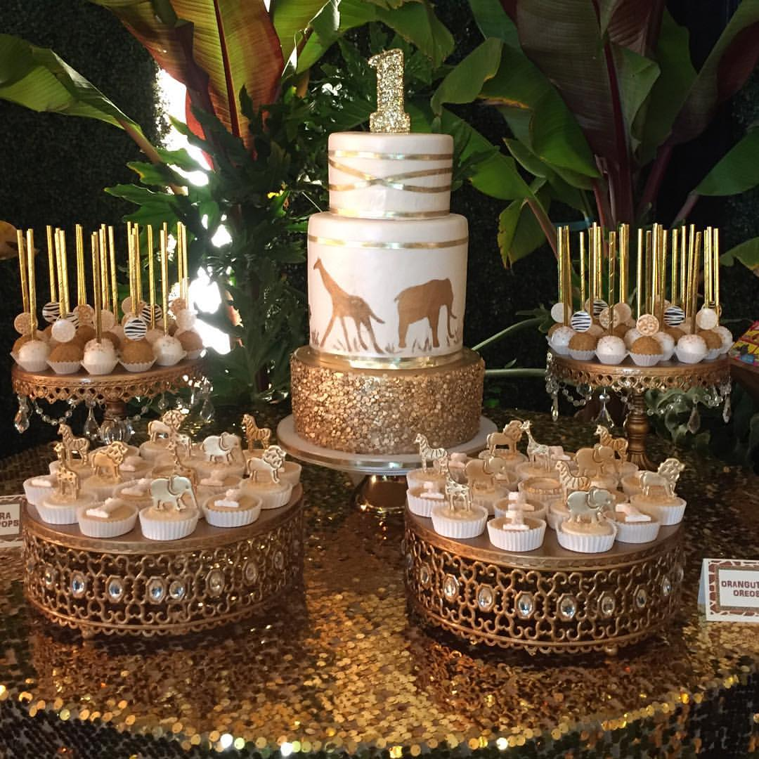 antique gold cake dessert stands opulent treasures safari dessert table.jpg