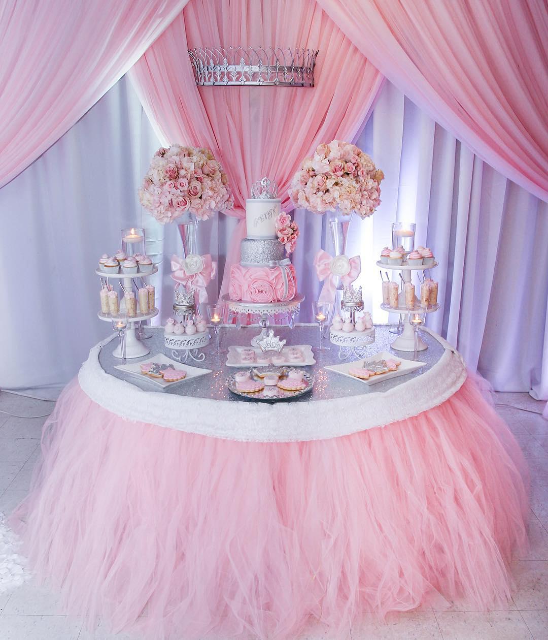 baby shower dessert table white cake stands.jpg