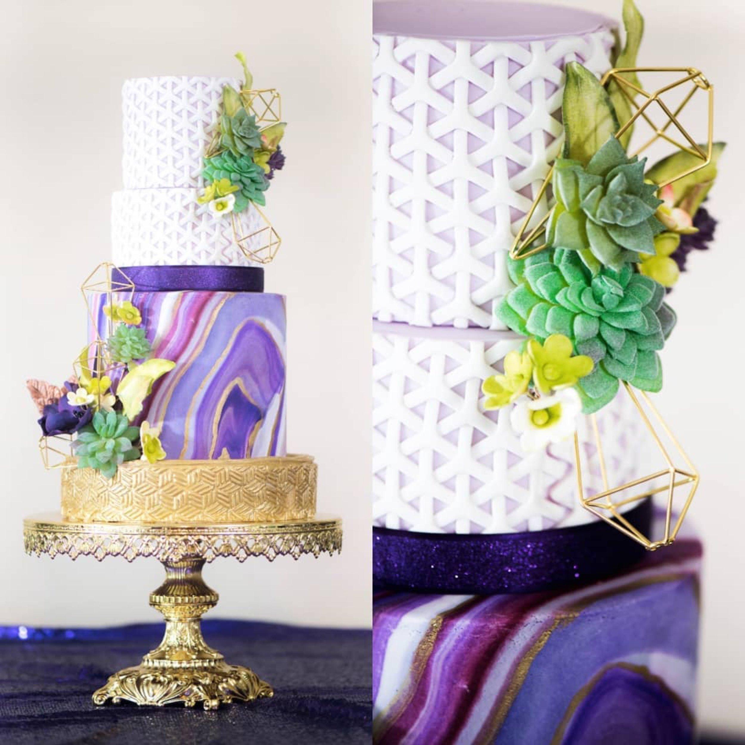 shiny gold baroque opulent treasures cake stand rebekah naomi cake.jpg