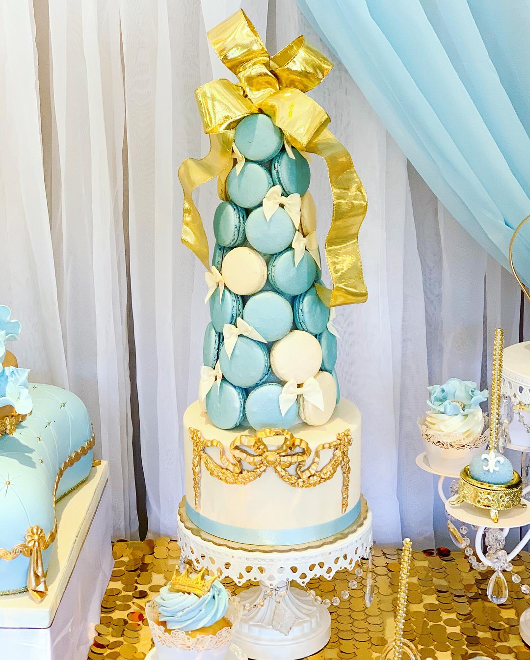 white chandelier cake stand opulent treasures.jpg