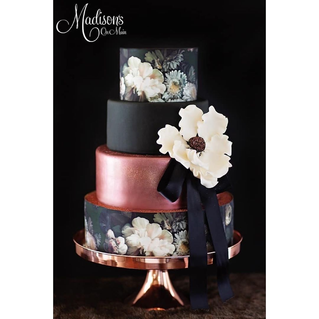 opulent treasures shiny rose gold cake stand madison on main cake .jpg