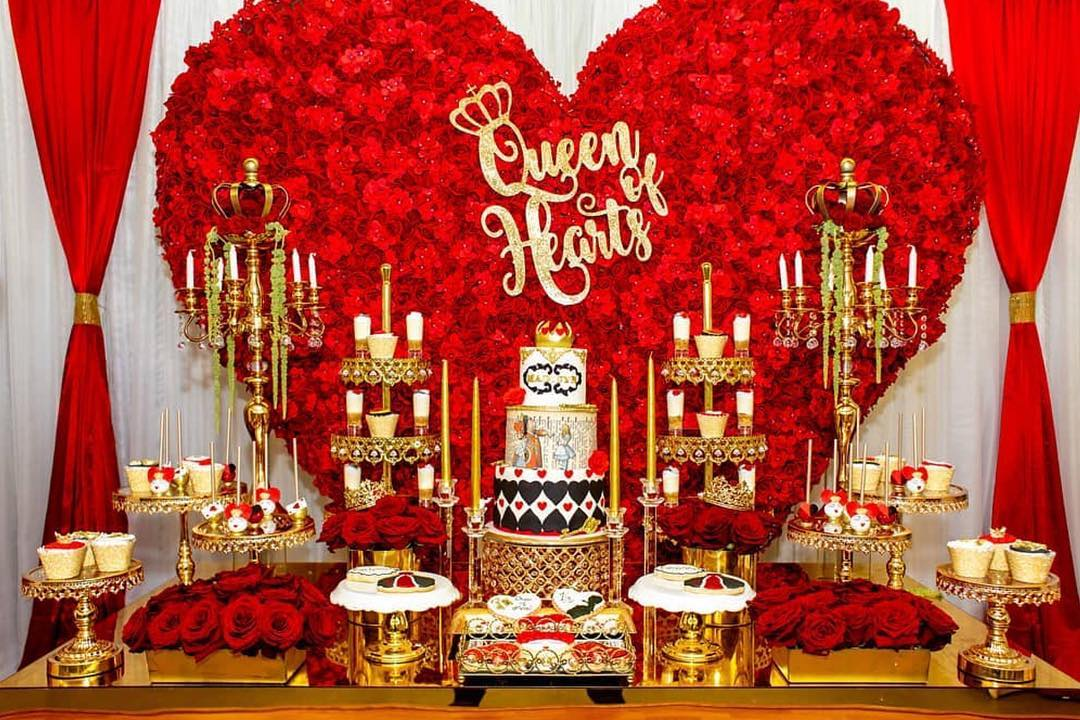Event Planner:  @glam_occasions  Photo  @purroy_photo_video  Cake  @sweetlittlecakes   Sweets  @valscookiecanvas_  Cut Out  @inspiredby2girls  Floral Wall & Table  @long_island_party_rentals   Gold Bling Dessert and Cake Stands:  Opulent Treasures