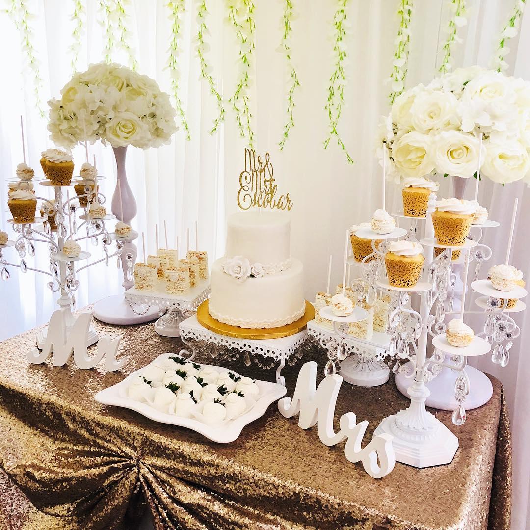 wedding cake table white cake dessert stands by opulent treasures.jpg