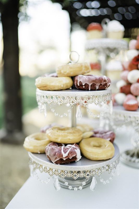 Tiered Dessert Stand with chandelier accents