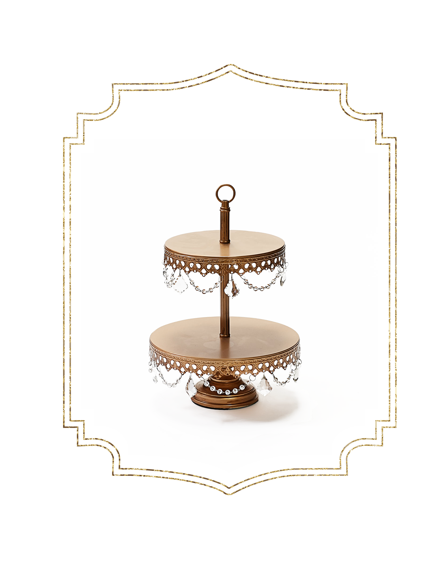 SHOP-preview ANTIQUE GOLD chandelier 2 tier dessert stand.png