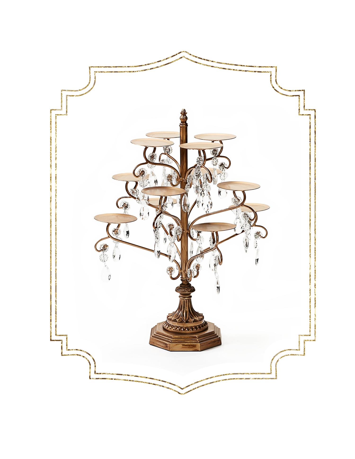 SHOP-preview ANTIQUE GOLD chandelier 12 piece cupcake stand.png